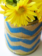 Yellow and Blue (*TheDayDreamer*) Tags: blue flower yellow decoration fake vase