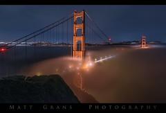 Karl by Night (Matt Grans Photography) Tags: sanfrancisco fog night lights goldengatebridge