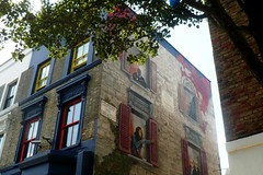 Bob Marley & Co (mistigree) Tags: graffiti londres portobello fentre nottinghill faade bobmarley trompeloeil
