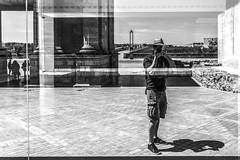 I Saw Myself (Danieldevad) Tags: portrait people bw white selfportrait man black reflection blanco artistic retrato negro autoretrato creative reflejo hombre creativo