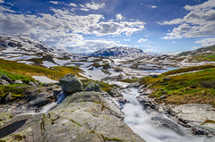 Mountain crossing (mattamatikk) Tags: sky mountain snow water norway clouds landscape nikon sigma wideangle tags beta add scandinavia 1020