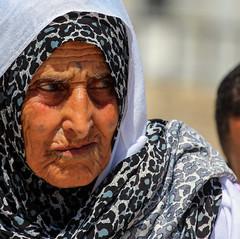 It's Hard to Understand Today's World (ybiberman) Tags: old portrait woman tattoo israel candid jerusalem hijab streetphotography ramadan muslimquarter oldcity alquds facetattoo fridayprayer