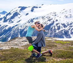 """""""And I will not tire of you"""" (ashleymeyer4) Tags: adventure alaska explore hiking engagement mountains proposal"""