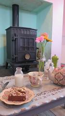 Tea By The Fire (Katie_Russell) Tags: ireland cake tea sweet buns northernireland ni tearoom bun ulster portrush nireland doras countyantrim norniron coantrim