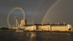 Rainbow Over County Hall 3 (cherylea_cater) Tags: london thames river rainbow boattrip shard countyhall teamnight