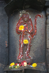 Hanuman - the Monkey god (VinayakH) Tags: halasurusomeshwaratemple bangalore india ulsoor chola vijayanagaraempire kempegowda hindu shiva temple hinduism