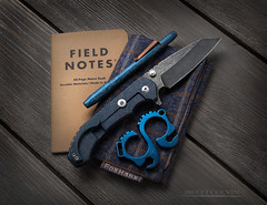 Fox Hanx Ranger (Fly to Water) Tags: edc every day carry fox hanx handkerchief tactical knife blade edge edged weapon professional product photography studio jeff simmons aegis hoplite blue koch tools tool pocket knuck knuckle titanium ti2design techliner solo field notes foxhanx