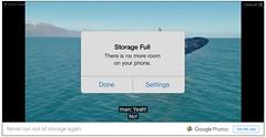 Storage Full (stevegarfield) Tags: iphone4