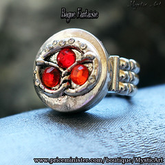 Bague Swarovki rouge (Mystic Art *) Tags: bague ring paillettes glitter bijoux jewerly swarovski magic