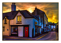Antiques & Bygones (Kevin, Thanks for over 3 Million Views) Tags: architecture sky sunset llangollen wales clouds shops street canon1855mm kevinwalker