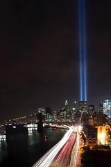 9/11 Always remember! (jeffreyjune16) Tags: perspective architecture skyline nyc lighttribute wallstreet streetphotography urban night newyork lightbeams