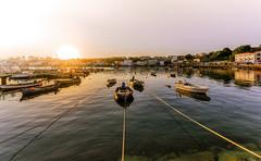 Good summer morning (Explored) (Eduardo Regueiro) Tags: summer verano mugardos espaa spain sun sunrise boats barcas puerto pier pesca pesquero tranquilidad