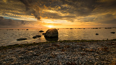 Sunset (JH') Tags: nikon nikond5300 nature d5300 water rocks rock sky summer ocean sigma sweden sun 1020 2016 landscape clouds coast sea seaside sunset beach heaven