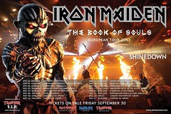 The Book Of Souls World Tour in 2017 - 16 date European/UK Tour with @IronMaiden and @Shinedown! Tickets go on sale Friday September 30th! #Shinedown #IronMaiden (ShinedownsNation) Tags: shinedown nation shinedowns zach myers brent smith eric bass barry kerch