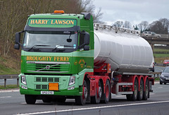 Harry Lawson of Broughty Ferry Volvo FH SP12CYO on the M6, Carlisle, 23/3/15 (andyflyer) Tags: truck broughtyferry lorry carlisle artic m6 lorries hgv volvofh harrylawson sp12cyo