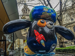 No 22 - Out of this World designed by Josh & Aimee Williams (SarahO44) Tags: world city uk england 6 reflection london rain st out this 22 williams sheep cathedral unitedkingdom centre united kingdom pauls josh trail aimee plus shaun information iphone aardman
