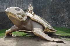 Ready for take off ... (Manurèva) Tags: sculpture belgium belgique utopia tortue namur turtel citadelle surréaliste janfabre