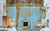 rusted and blue (mcfcrandall) Tags: blue ontario abandoned metal truck screws rust doors backoftruck mcleans mcleansautowreckers