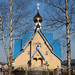 "Blue church in Ogre • <a style=""font-size:0.8em;"" href=""http://www.flickr.com/photos/127988158@N04/18038403658/"" target=""_blank"">View on Flickr</a>"