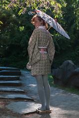 Japanischer Garten (Rose N. Kohl) Tags: green japan stone germany garden deutschland japanese thringen nikon erfurt treppe geisha kimono grn ega stein garten schirm umrella