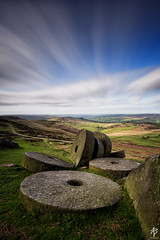 The Rolling Stones (fearghal breathnach) Tags: stanageedge peakdistrict landscape longexposure millstones millstone sky england stones foreground