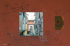 Ti voglio fotere.. (Tiziano De Donno) Tags: red italy window graffiti nikon bologna canale