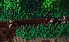 Clearing out the Trenches (~J2J~) Tags: lego scene trench german american ww2 oakleaf minifigs airborne mru brickarms minifigsrus