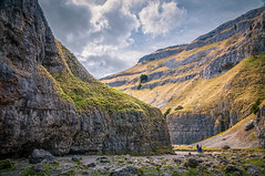 Gordale Scar (Mariusz Talarek) Tags: uk england nature walking landscape outdoors countryside nikon outdoor hiking yorkshire dslr northyorkshire pennines rambling malham naturephotography naturelover malhamdale landscapephotography outdoorphoto d90 naturephoto naturephotographer outdoorphotography onahike outdoorphotographer nikond90 landscapephotographer landscapephoto mtphotography addicted2walking