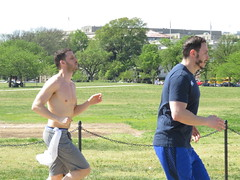 IMG_0655 (FOTOSinDC) Tags: shirtless man men muscles muscle candid handsome running sweaty sweat shorts jogging runner tee jogger