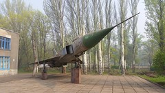 Sukhoi Su-15A Flagon code 85 bl c/n 0715322 Soviet Air Force preserved at a school in Kryvyi Rih, Ukraine (Erwin's photo's) Tags: school cn code force aircraft air ukraine soviet preserved 85 interceptor sukhoi bl flagon rih kryvyi su15a 85bl 0715322