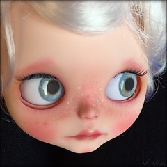 Blythe doll custom #94 ( vivia custom dolls and accessories ) Tags: eye doll sweet lips chips blythe freckles custom eyelids eyechips chipsforblythe