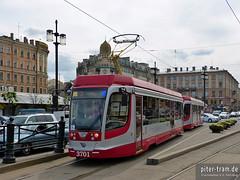 St. Petersburg (RUS) (tram2000@gmx.de) Tags: tram petersburg streetcar tramway strassenbahn tramvaj tramwaj     strasenbahn