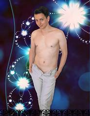 Sbastien - nouvelle srie (Iwokrama) Tags: shirtless photoshop sebastian bare torso sourire youngman malemodel feuxdartifice rve