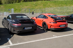 Turbo S + GT3 RS (Patrick2703) Tags: red black cars austria s turbo porsche spielberg supercars cabriolet gt3rs worldcars redbullring