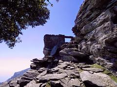 Ruins of medieval fort on the mt top (angeloska) Tags: door castle history rocks ikaria aegean ridge greece ridgewalk hikingtrails   atheras  opsikarias mavrato kapsalino
