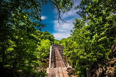 Ilchester (6-11-16)-028-HDR (nickatkins) Tags: longexposure railroad bridge sky water graffiti bridges rail tunnel bluesky ironbridge rails railroads