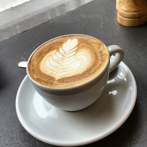 Flat white coffee at Smäk in South Yarra