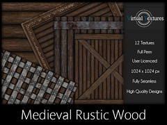 [VT] Medieval Rustic Wood (VirtualTextures) Tags: wood wooden 3d rustic logs medieval textures secondlife distressed seamless realistic