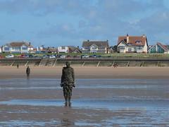 DSCF0704 (SierPinskiA) Tags: sea shells beach liverpool sand ironman pools barnacles ironwork mayday seashore merseyside anthonygormley irishsea 2016 anotherplace crosbybeach blundellsands fujixs1