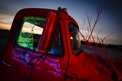 RGB Truck (Notley) Tags: blue light sunset red sky lightpainting tree green abandoned night clouds truck evening midwest july rearviewmirror pickuptruck missouri greenlight bluehour rgb redlight nocturne bluelight 2016 10thavenue redgel bluegel notley ruralphotography greengel ruralusa overtonmissouri notleyhawkins coopercountymissouri missouriphotography rgblight httpwwwnotleyhawkinscom notleyhawkinsphotography