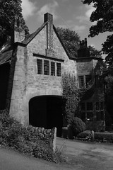 Lodge to New Cragg Hall by Edgar Wood (Richard Needham) Tags: edgarwood architecture artsandcrafts blackandwhite craggvale calderdale caldervalley westyorkshire yorkshire