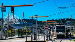Trimet MAX Orange Line in OMSI/SE Water MAX Station (AvgeekJoe) Tags: bridgeofthepeople d5300 dslr lightrail max nikon nikond5300 omsisewatermaxstation oregon portland tilikumcrossing tilikumcrossingbridgeofthepeople train trimet willametteriver bridge cablestayedbridge masstransit masstransportation publictransit publictransportation rail transit transitbridge urbanrail