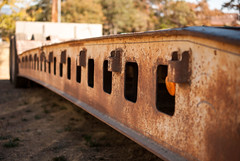 Lowboy Trailer (brandon.walker0319) Tags: heavy equipment lowboy truck rusty rust depth field nikon d3000 40mm pattern paterns