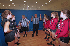 IMG_9486 (SJH Foto) Tags: girls volleyball high school mount olive mt team tween teen teenager varsity tamron 1024mm f3545 superwide lens pregame ceremonies ref referee captains coin toss