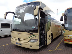 BX14ONO Crawley Luxury in Blackpool (j.a.sanderson) Tags: bx14ono crawley luxury blackpool coaches mercedes benz tourismo registered new 2014 chauffeurhire chippingsodbury coach