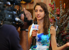 Stop the Hate®: Youth Speak Out Grand Prize Winner Lea Kayali with TV20