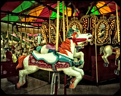 Around We Go (grandmasandy+chuck) Tags: carousel merrygoround strawberryfestival ononesoftware