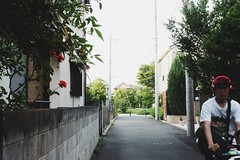 Flowers /  [Explored: May 22, 2015] (marumeganechan) Tags: street red people flower scene gr  ricoh