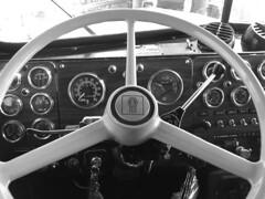 Kenworth KW W900 dash (lowston) Tags: blackandwhite monochrome cockpit dashboard kw kenworth w900 w900a truckdashboard kww900 w900dashboard kenworthw900adashboard