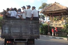 precarious (Grenzeloos1) Tags: bali students indonesia dangerous jl raya ubud truckload 2015